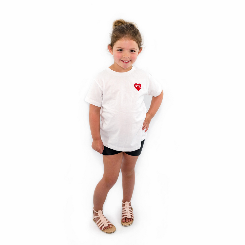 Toddler Embroidered Heart STL Tee