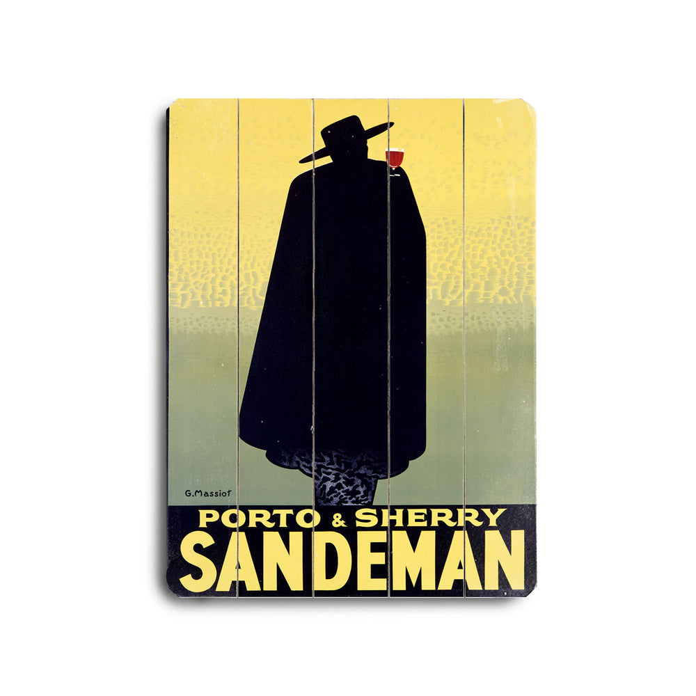 Sandeman Port Wine Wood Wall Decor by Posters Please