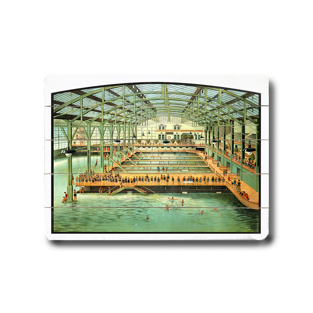 Sutro Bath House San Francisco Wood Wall Decor by Posters Please
