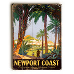 Vintage Newport Coast Wood Wall Decor by Posters Please