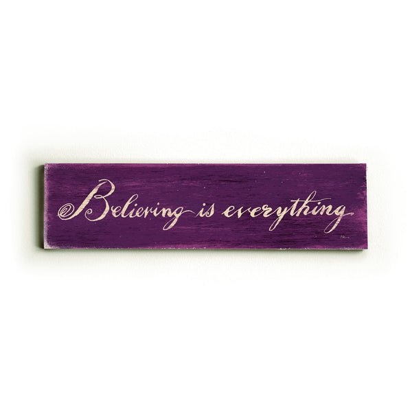 0002-8194-Believing is everything Wood Wall Decor by FLAVIA