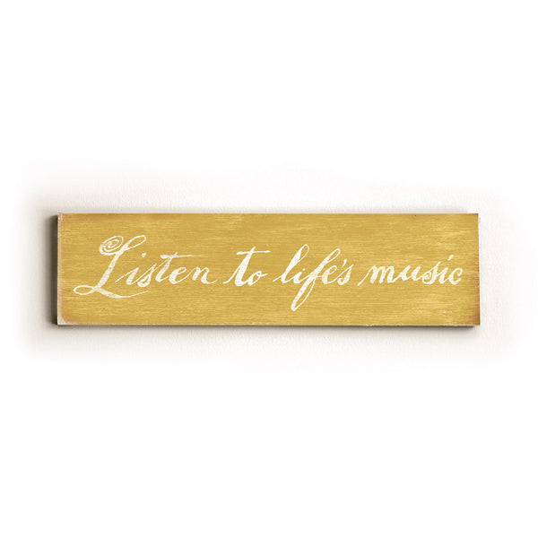 0002-8208-Listen to Life's Music Wood Wall Decor by FLAVIA