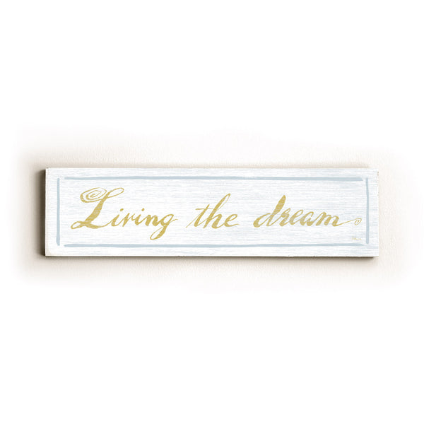 0002-8210-LIving the Dream Wood Wall Decor by FLAVIA
