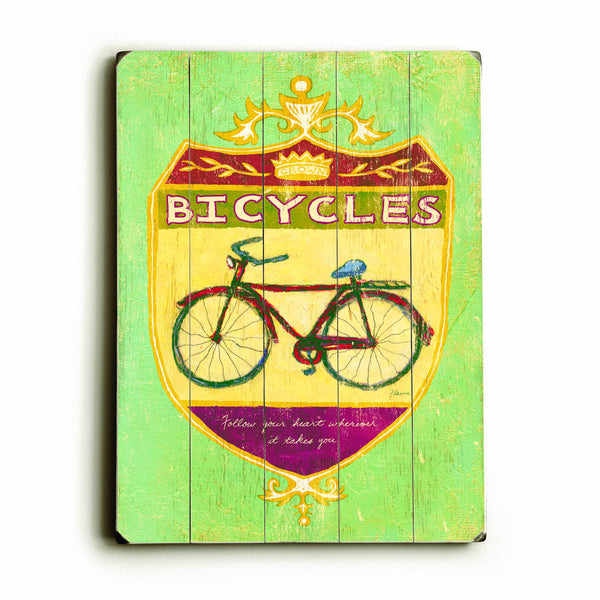 0002-8216-Bicycles Wood Wall Decor by FLAVIA