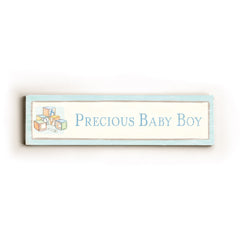 0002-9028-Precious Baby Boy Wood Wall Decor by FLAVIA