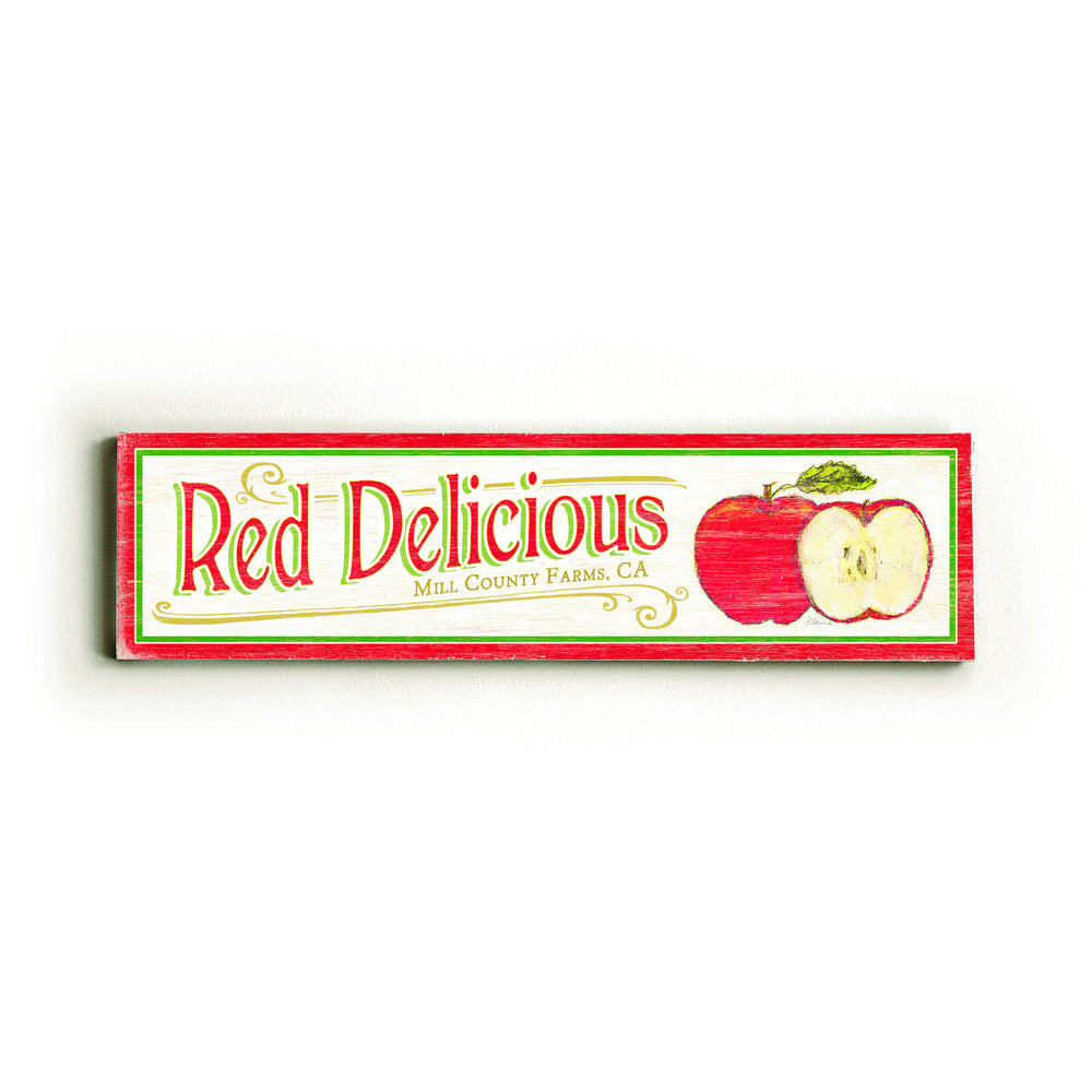 Red Delicious Wood Wall Decor by FLAVIA