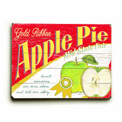 0003-1581-Apple Pie Wood Wall Decor by FLAVIA