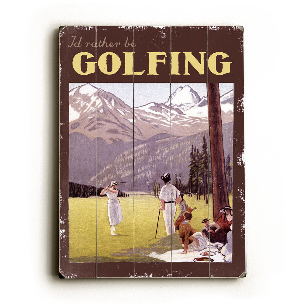 Golfing Wood Wall Decor by Posters Please