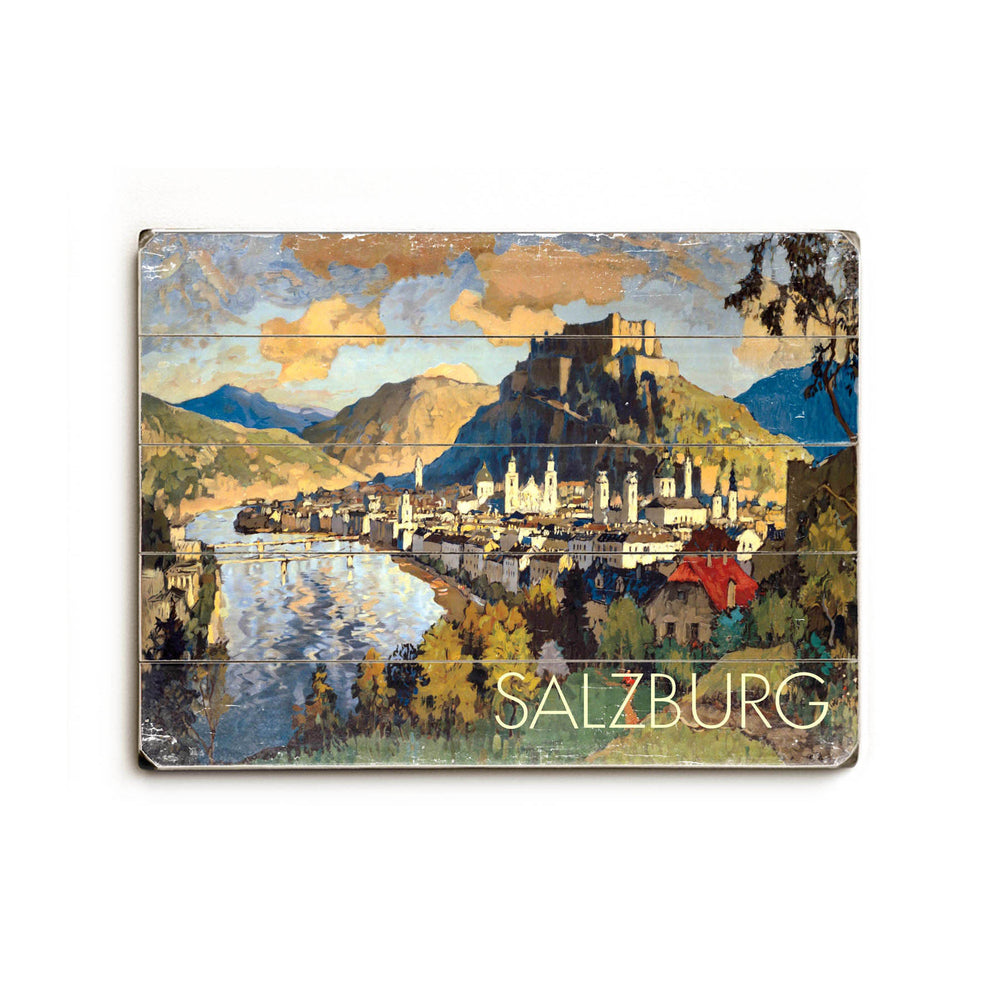 Salzburg Wood Wall Decor by Posters Please