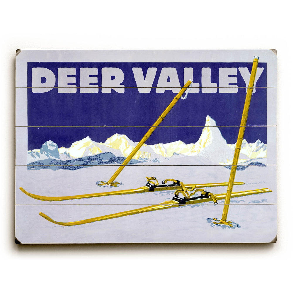 Deer Valley Wood Wall Decor by Posters Please