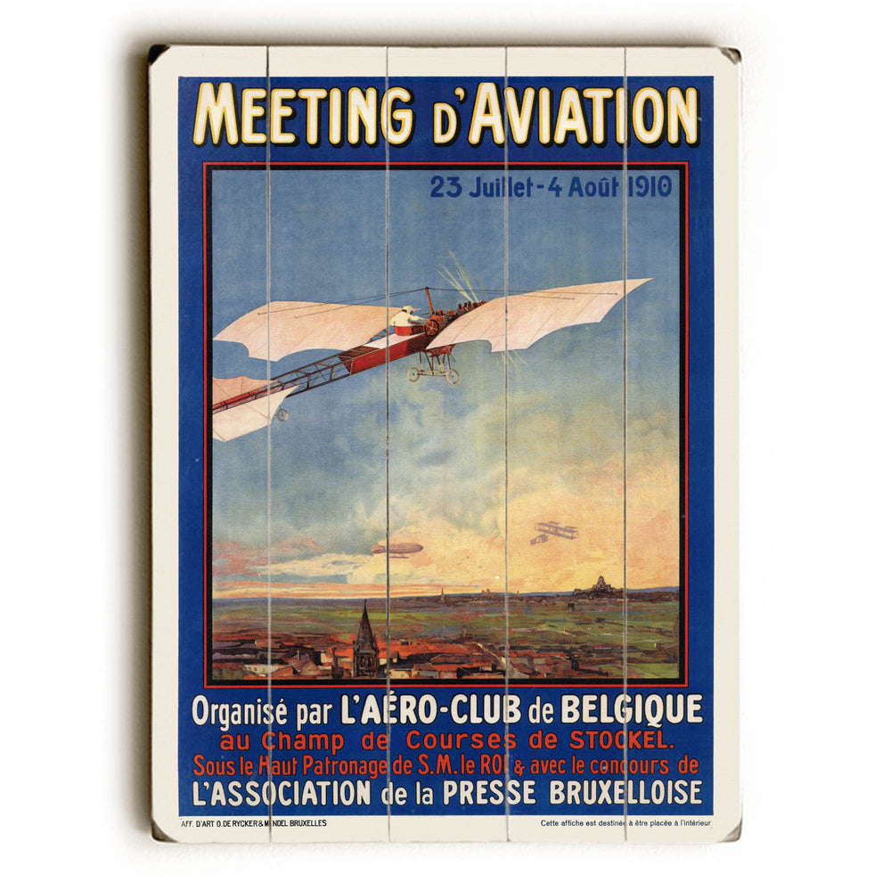 Aviation Wood Wall Decor by Posters Please