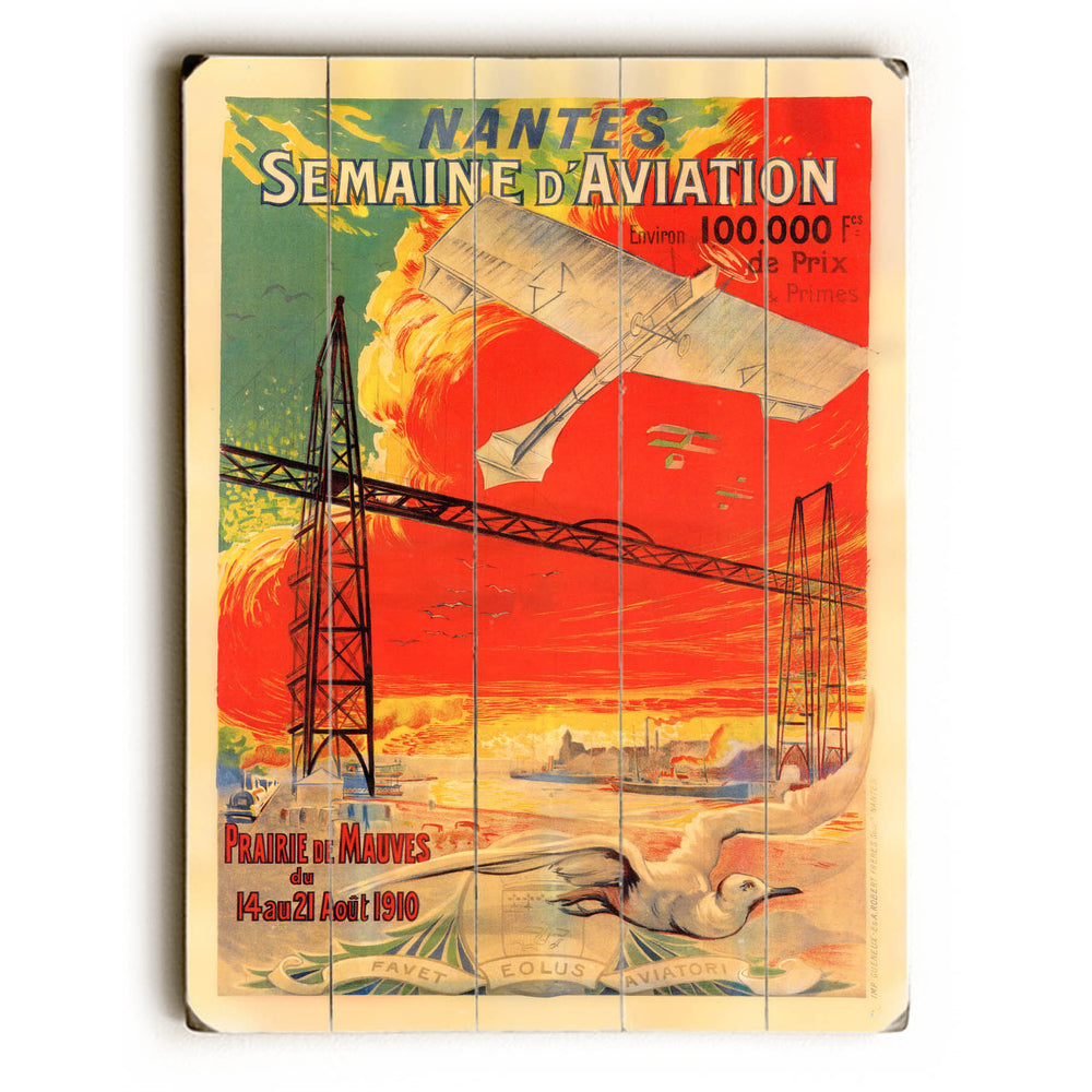 Semaine d'Aviation Wood Wall Decor by Posters Please