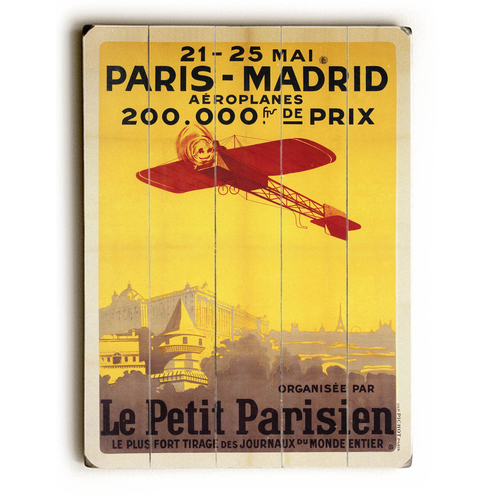 Paris Madrid Wood Wall Decor by Posters Please