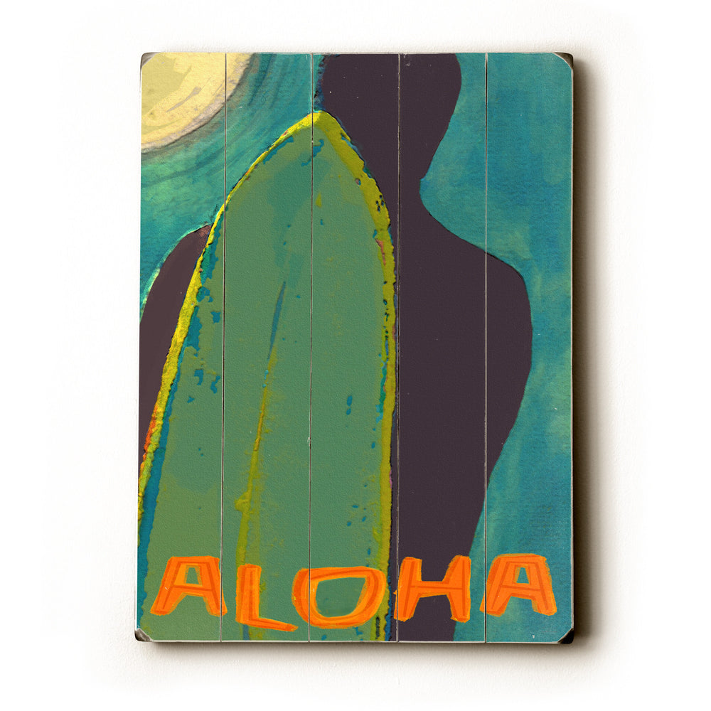 Aloha Wood Wall Decor by Lisa Weedn