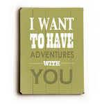 Adventures With You Wood Wall Decor by Amanda Catherine