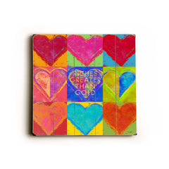 9 hearts 2 Wood Wall Decor by Lisa Weedn