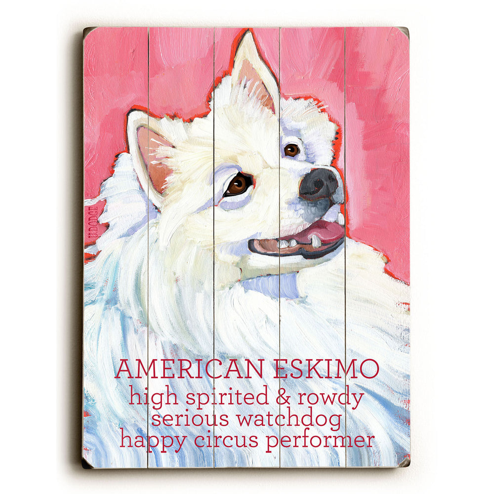 American Eskimo Wood Wall Decor by Ursula Dodge