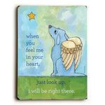 Blue Dog Angel Wood Wall Decor by Ursula Dodge