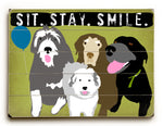 Ginger Oliphant Sit. Stay. Smile Wood Wall Decor