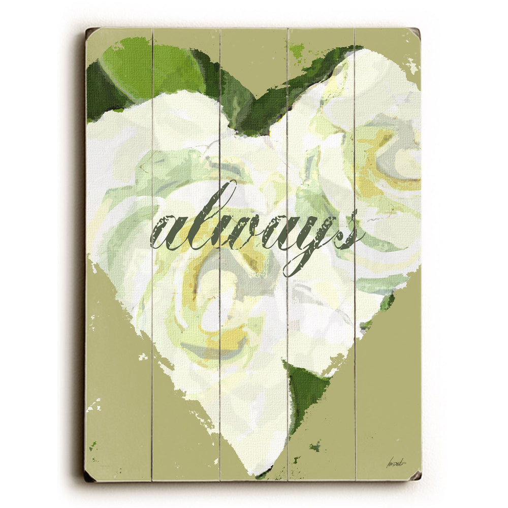 Always - Heart Wood Wall Decor by Lisa Weedn