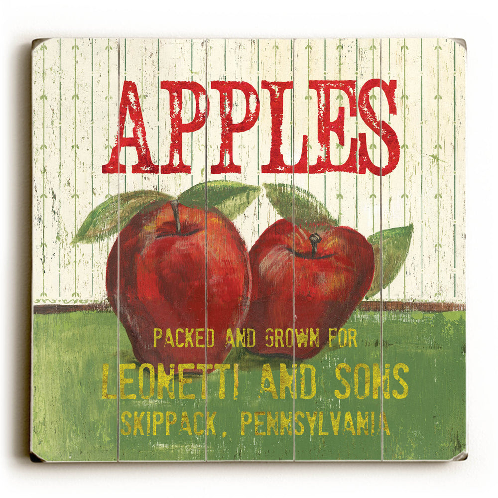 Apples Wood Wall Decor by Debbie DeWitt