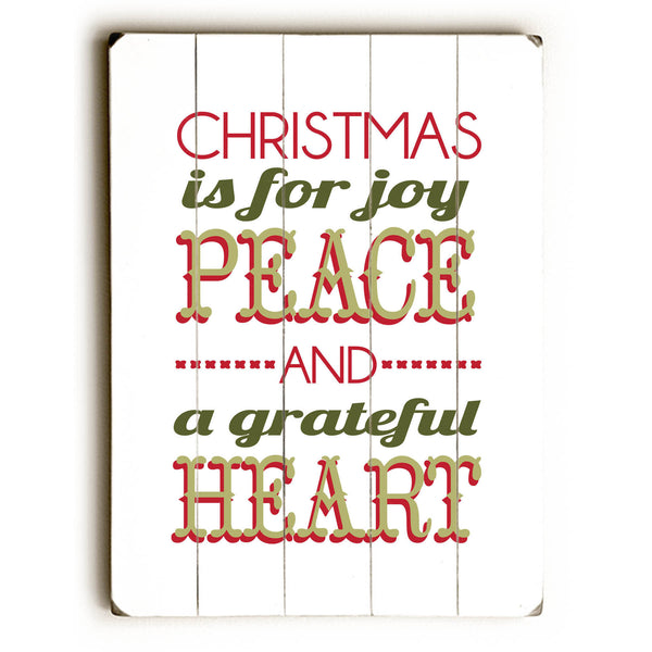 Christmas is for Joy Peace Wood Wall Decor by Amanda Catherine