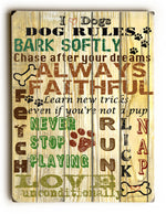 Jean Plout I Love Dogs Wood Wall Decor