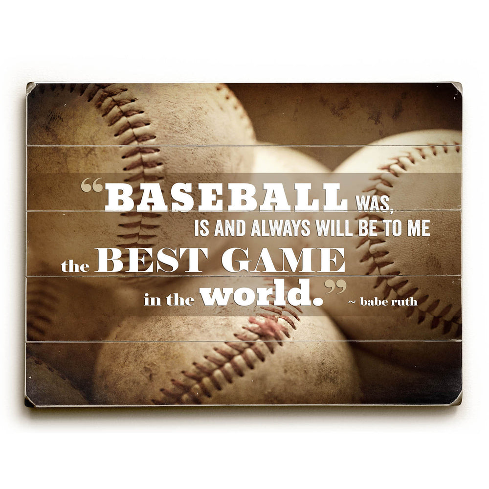 Baseball Quote Wood Wall Decor by Lisa Russo