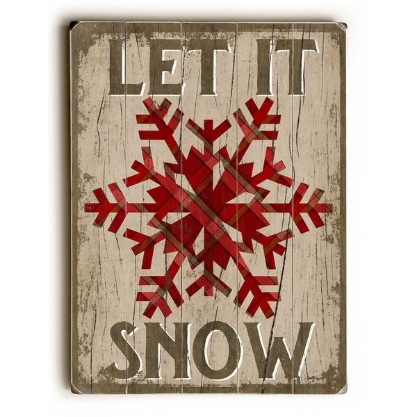 Let it Snow Wood Wall Decor by Misty Diller