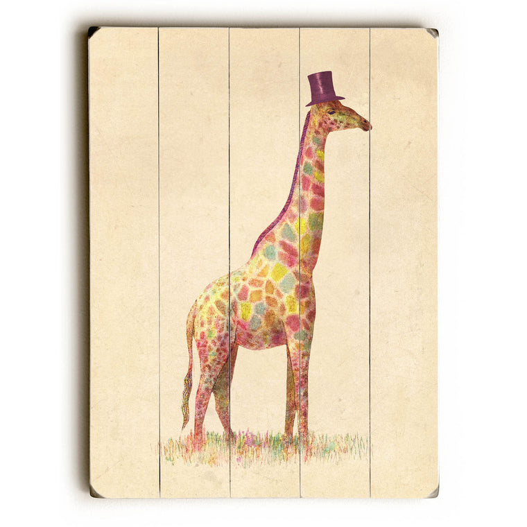 Fashionable Giraffe Wood Wall Decor by Terry Fan