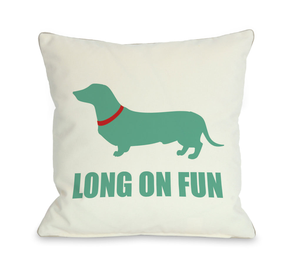 Long on Fun Throw Pillow_OneBellaCasa Affordable Home Decor
