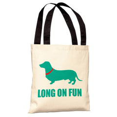 Dachshund Long on Fun  Tote Bag by OBC