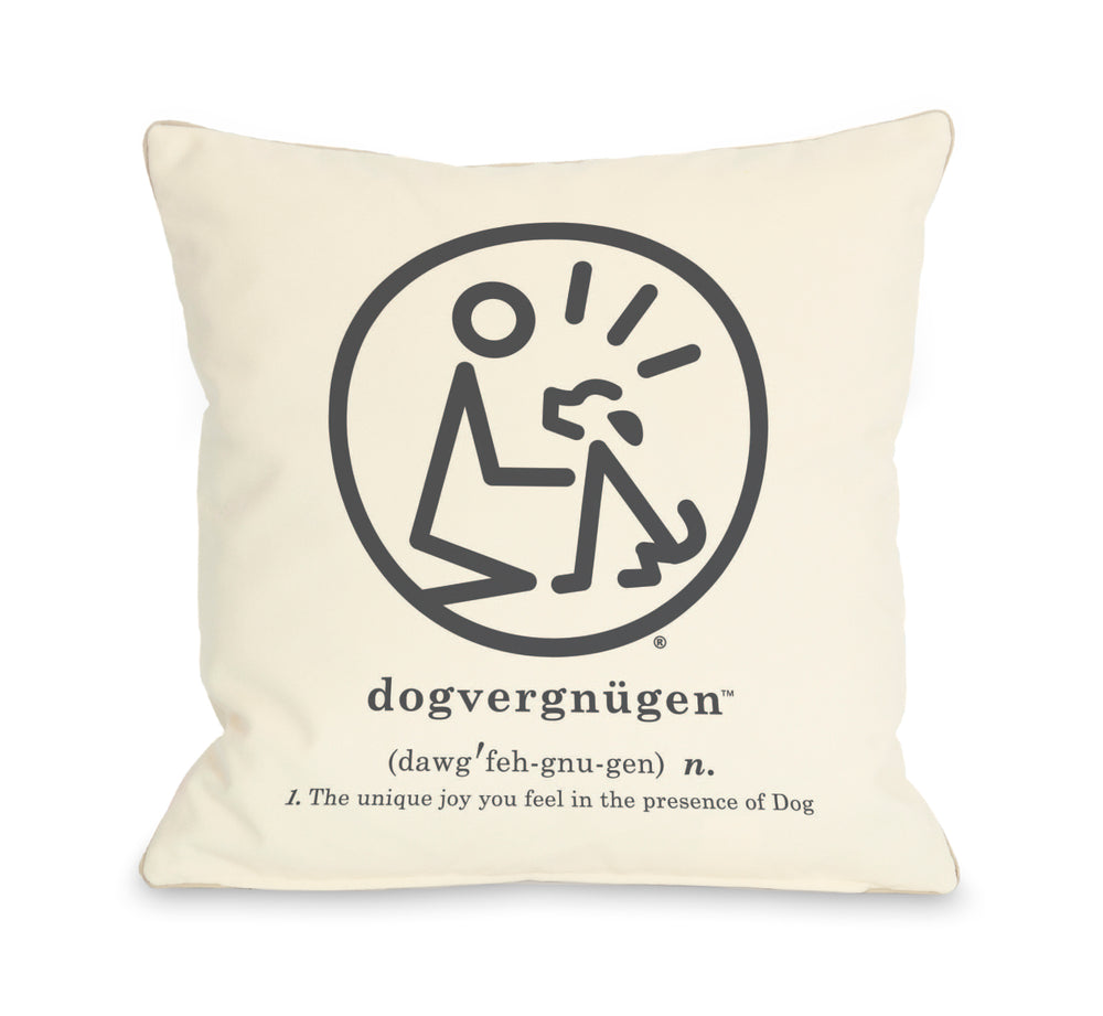 Dogvergngngen Throw Pillow by Dog Is Good