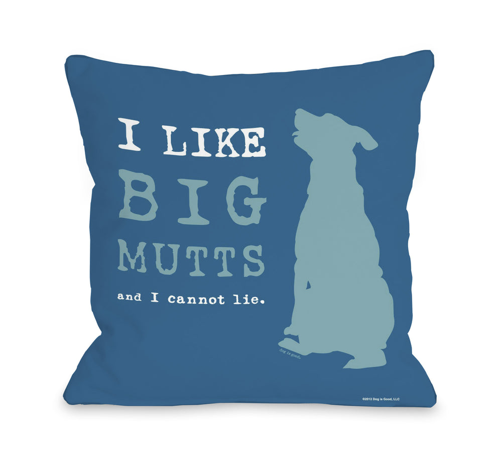 I Like Big Mutts - Blue by OneBellaCasa Affordable Home D_cor