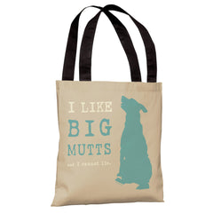 I Like Big Mutts - Oatmeal Tote Bag by Dog is Good