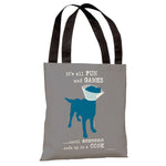 It's All Fun and Games - Grey Tote Bag by Dog is Good