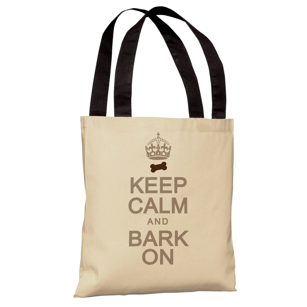 Keep Calm and Bark On Tote Bag by OBC