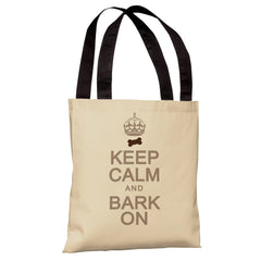 Keep Calm and Bark On Tote Bag by OneBellaCasa.com