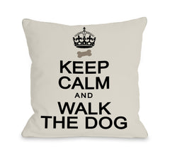 Keep Calm and Walk the Dog by OneBellaCasa Affordable Home D_cor