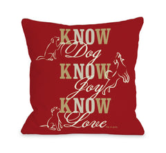 Know Dog - Red by OneBellaCasa Affordable Home D_cor
