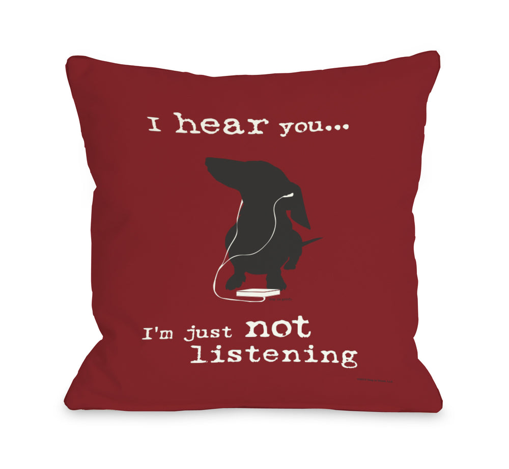 Not Listening - Red by OneBellaCasa Affordable Home D_cor