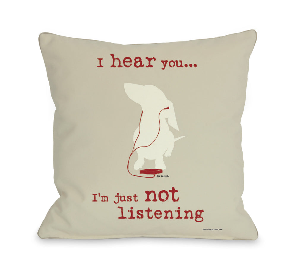 Not Listening - Oatmeal by OneBellaCasa Affordable Home D_cor