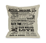Proud to be a Dog Mom - Oatmeal by OneBellaCasa Affordable Home D_cor
