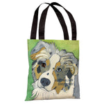Australian Sheep Dog 1 Tote Bag by Ursula Dodge