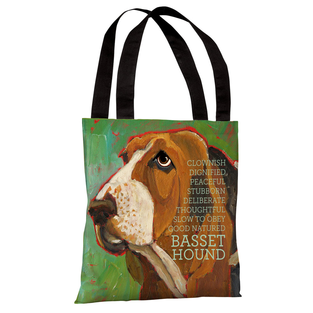 Bassett Hound 2 Tote Bag by Ursula Dodge