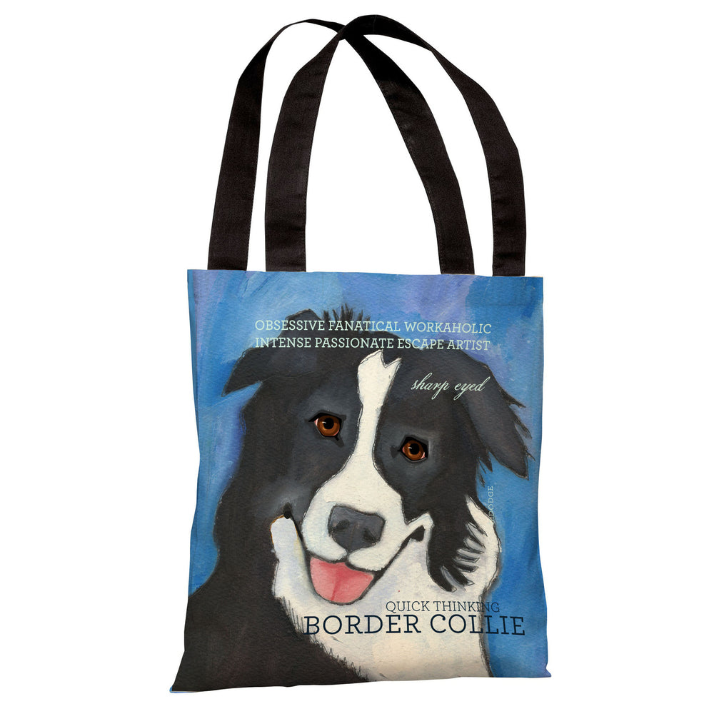 Border Collie 2  Tote Bag by Ursula Dodge