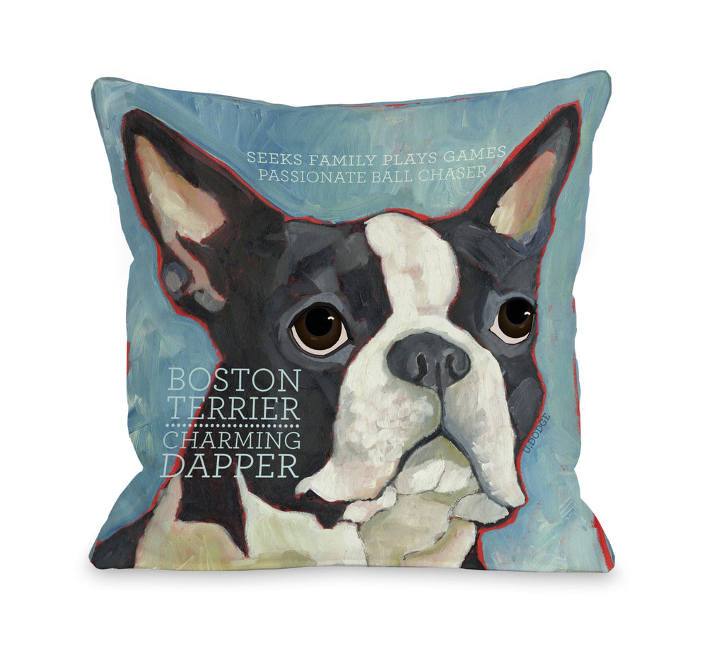 Boston Terrier 1 by OneBellaCasa Affordable Home D_cor