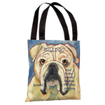 Bulldog 2  Tote Bag by Ursula Dodge