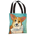 Corgi 2  Tote Bag by Ursula Dodge