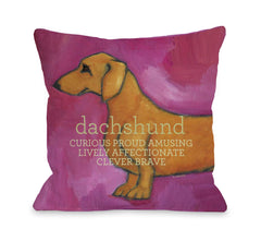Dachshund - Pinkby OneBellaCasa Affordable Home D_cor